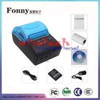 Wholesale by dhl or ems ZJ mm Bluetooth POS Receipt Thermal Printer Bill Machine EU US UK PLUG