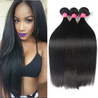 7a armure brazillienne achat en gros de-4 lots Unprocepsed Virgin Brazillian Straight Hair Cheap Brazilian Brazilian Hair Weave Bundles 7A Brazilian Straight Bundles Natural Color