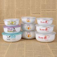 Wholesale Enamel Lid - microwave bowl fresh bowl Enamel three sets Sealing Stretch Lid Keep Food Fresh Preserve Universal Fresh Keeping
