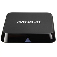 ii caja de tv android al por mayor-M8S-II Android TV Box 2G + 8G / 16G Quad Core Banda dual 2.4G / 5G wifi Android 6.0 Amlogic S905X 4K H.265 Box