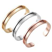 Wholesale Novelty Holder - Free Shipping Novelty Zinc Alloy Rose Gold & Silver Hair Tie Bracelet For Women Cuff Bangle Hair ties bracelet Hair bands holder