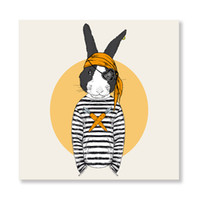Wholesale Kids Animal Canvas Art - ARTPIONEER Nordic Cartoon Animal Art Prints Poster Hipster Wall Picture Canvas Painting Kids Room Home Decor