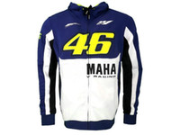 Wholesale Blue Moto Jacket - Free shipping 2017 HOT TOP Rossi VR46 M1 Factory Racing Team Moto GP Adult Hoodie Sports Sweatshirt Jackets Blue