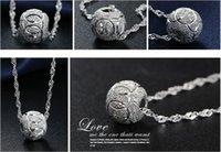 sarı gümüş bileklik kolye toptan satış-Kadın Kolye 925 ayar gümüş top Moda Gümüş Zincir kolye Takı Güzel Kolye Gümüş Takı