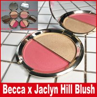 Wholesale Becca Blush - Becca blush with highlighter Becca x Jaclyn Hill double blush Shimmering Powder Amaretto Flowerchild Hyacinth Pamplemousse