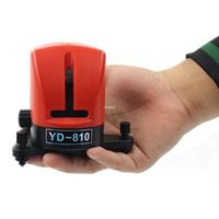 auto-nivelamento de laser de linha cruzada venda por atacado-Freeshipping YD-810 360 graus auto-nivelamento Cruz Vermelho Nível do Laser de comprimento de Onda 635nm 1V1H Vermelho 2 linha 1 ponto Mini Instrumento portátil