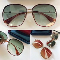 Wholesale Sequin Tops For Women - Popular fashion designer sunglasses frameless crystal sequins frame ultra-light protection glasses for women top quality with box 0228