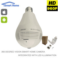 Wholesale 360 Degree MP Fisheye Panoramic WiFi Wireless P2P Cloud Security Network IP Camera LED Bulb Light