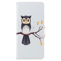 дизайны совы оптовых-Для Samsung Note 8 S8 Plus Обложка Окрашенные PU Кожаные Чехлы Флип-кошелек Карты Night Owl Дизайн Сумки для Телефона