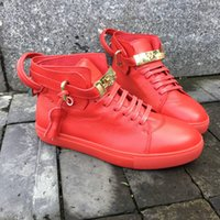 best red ankle boots chain - Lock Genuine Leather original works of genuine pinnacle Fashion from top brand exclusive mold soft rubber outsole shoes leisure women Boots