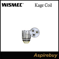 Wholesale V3 Atomizer Head - WISMEC WT Replacement Coil Head for KAGE Atomizer WT-H2 0.4ohm Head WT-V3 0.17ohm Head Replacement Coils Head 80-220W Wattage 100% Original