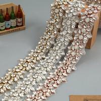 Wholesale wedding dress rhinestone trim - Crystal Rhinestone Trim by the Yard Wholesale Bridal Trim Thin Crystal Trim Rose Gold Rhinestone Applique Wedding Dresses Belt