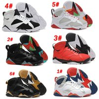 Wholesale French Net Fabric - Air Retro VII 7 French blue khaki Bordeaux Multi Color Dark Grey Sliver Hare Nothing But Net Basketball Shoes Athletics Boots For Sale