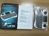 Wholesale Mini Tablets - Rii Air Mouse Wireless Handheld Keyboard Mini I8 2.4GHz Touchpad Remote Control For MX CS918 MXIII M8 TV BOX Game Play Tablet Mini PC