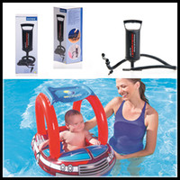 Wholesale Inflatable Toddler Bath - Inflatable Baby Swimming Seat Toddler Water Beach Bath seat Toys Fashion Pool Float Toy with hand pump DHL free