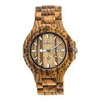 Wholesale Cheap Wood Rounds - Men Watch Luminous Wood Watches Fashion Casual Analog Date Quartz Wristwatch Newest Bangle New Dress watch in Cheap Price