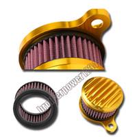 ingrosso filtro nero di aspirazione-Nuovo kit sistema di filtri d'aspirazione filtro nero / oro per Harley Sportster 48 883 1200