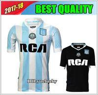 Wholesale Racing Shirts - 17 18 Top Thai quality Argentina Soccer Jersey Racing Club de Avellaneda jersey Home away MILITO LISANDRO Racing football Shirt