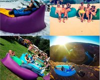 Wholesale summary hot Fast Inflatable Sofa Air Sleeping Bags Beach Lounger Hangout Couch Portable Camping Hiking Beds Lazy Beach Outdoor Lay Chairs