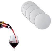 ingrosso barra di scarico-10Pcs Lotto Riutilizzabile Lavabile Liquor Pourer Disk Foil Vino Pourer Juice Bar Bottle Beccuccio Stopper