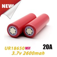 Wholesale Sanyo Rechargeable Flashlight - Original 100% Japan Sanyo 18650 Battery 2600mAh UR18650NSY 20A Rechargeable Lithuim Batteries Fit Flashlight By FedEx Ship