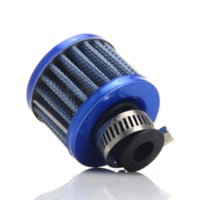 Wholesale Crankcase Breather Filter - 12mm Car Cold Air Intake Filter Turbo Vent Crankcase Breather Blue Auto Replacement Parts Car Styling Accessories #7091