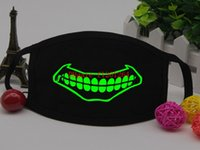 Wholesale Black Luminous Face Mask Skeleton Riding Couple Anti Dust Fashion Personality Teeth Glow Mouth Mask