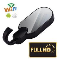 камера движения на стене оптовых-Беспроводной Wi-Fi одежда крюк камеры Full HD 1080P ночного видения стены крюк pinhole камеры обнаружения движения видеомагнитофон главная камера безопасности