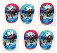 Wholesale Happy Caps Wholesale - Moana Cartoon Hats Kids Caps Favors Lovely Happy Birthday Party Baby Shower Caps Decoration Events Supplies DHL Free Shipping