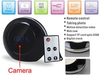 Wholesale motion detection clocks for sale - Group buy multifunctional Alarm Clock Camera HD X960 Motion Detection Clock DVR Audio Video Recorder Home security mini DVR