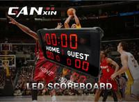 lider ekran segmentleri toptan satış-[Ganxin] Toptan Açık 7 Segment Led Basketbol Scoreboard İşlevli RF Kontrol ile Oyun için Led Ekran