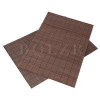 Wholesale Natural Bamboo Coasters - Wholesale- BQLZR 2x Brown Natural Bamboo Coaster Placemats Insulation Pad Rectangle Table Mat