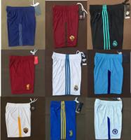 Wholesale Top Elastic Waist - Sell hot Top thai quality 17 18 Real Madrid Bayernes Munichs Dortmunds pants 2017 2018 Juves Man United Football shorts