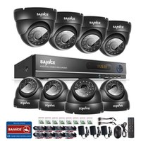 Wholesale Dome Outdoor Security System - SANNCE 1080N AHD 8CH DVR 1.0MP 720P Outdoor CCTV Cameras Home Security System