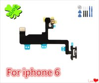 Wholesale Flashing Power Button - For iPhone 6 6G Power Button Switch Flex Cable 6S Plus On Off Ribbon Mic Microphone Flash Flat High Quality