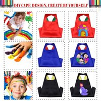 Wholesale Colorful DIY Plain Kids Capes Double layers cm Satin Blank Capes Halloween Costumes Cosplay Customize Superhero Capes