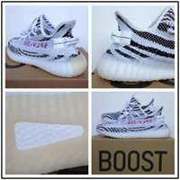 Wholesale Uk Fabric Wholesalers - 350 Boost V2 zebras Cream White Running Shoes For Men 350 V2 SPLY By Kanye West Black Red Stripes Green UK Sneakers Womens