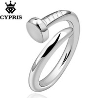 Wholesale Cheap Men Silver Rings - SALE Sale R591 Fashion Brand silver finger ring Nail Ring Women Men Open Ring lover gift hot Wholesale Price CYPRIS cheap lot