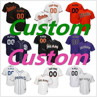 Wholesale Men s San Diego Padres Baltimore Orioles Customized Baseball jerseys Colorado Rockies Miami Marlins Cool Base Custom Jersey