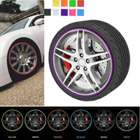 Wholesale Bmw Care - 8m Car Styling Tire Tyre Rim Care Protector Hub Wheel Stickers Strip for BMW VW Golf 4 Opel Astra Toyota Mazda CEA_307