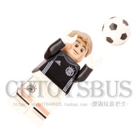 Wholesale Gift Football World Cup - WholeSale 20pcs World CUp Manuel Neuer Football Team SUPER HEROES Minifigures MODEL Building Blocks Bricks Kids Toy Gifts