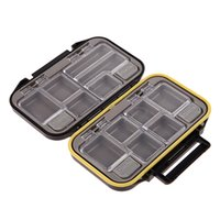 Atacado - Impermeável 12 compartimentos Multi-função Fishing Lure Bait Tackle Fly Fishing Box Storage Tool