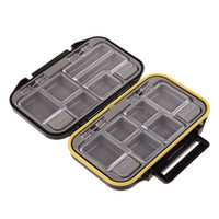 Discount wholesale fly fishing lure - Wholesale- Waterproof 12 Compartments Multi-function Fishing Lure Bait Tackle Fly Fishing Box Storage Tool
