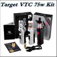 ingrosso vaporesso obiettivo 75w kit vtc mod-La migliore qualità Vapore enorme Vaporesso TARGET VTC 75 W Mod Starter Kit controllo della temperatura Ceramica cCELL Coil vs IJUST2 istick pico