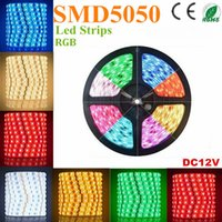 Bandes Led RGB 500m SMD 5050 5M 300 Leds Imperméables IP65 Led Flexibles Strips Light DC 12V Avec Ruban adhésif 3M