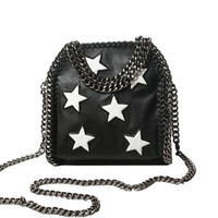 Wholesale Pillows Star Design - Wholesale-2016 New Women Chain Handbags Leather Shoulder Bags with Star Design High Quality Famous Designer Ladies Cross body Bag