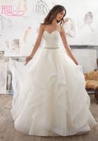 Wholesale Cheap Silver Charm Beads - Charming Wedding Gowns 2017 Sweetheart Pleats Ruffles Floor Length Beaded Waist Ball Gown Wedding Dresses 2016 Vestidos De Noivas Cheap
