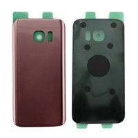 Wholesale Door Edges - 100PCS Original Battery Door Back Housing Cover Glass Cover For Samsung Galaxy S7 G930P S7 Edge G935P with Adhesive Sticker free DHL