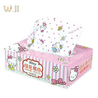 Wholesale Hello Kitty Box Paper Extraction KT Cute Cartoon Color Printing Face cloth Paper Tissue Box Packing Specification mm