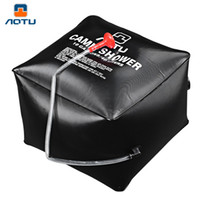 Wholesale Bath Drops - Aotu PVC Cube Emergency Water Bath Bag Camp Shower Solar Shower Bags 40L Portable Bath Drop Shipping OCT for Outdoor Activities +B